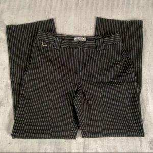 Santana Pinstripe Dress Pants Size 12 Long Inseam Boot Cut Heavy Material